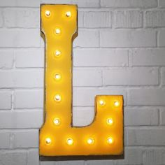 Custom 21 Yellow Letter L Vintage Marquee Signs