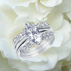 Marquis Engagement Ring #blingjewelry
