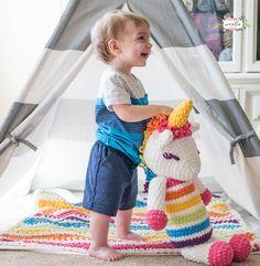 Lola the Crochet Plushy Unicorn