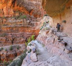 """Day hike into the Grand Canyon National Park's North Rim. Read more about this and other park trails in """"Hittin' the Trail: Day Hiking Grand Canyon National Park."""""""