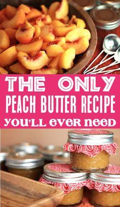 Jelly Recipes, Jam Recipes, Canning Recipes, Fruit Recipes, Crockpot Recipes, Peach Recipes Breakfast, Fresh Peach Recipes, Breakfast Crockpot, Marmalade