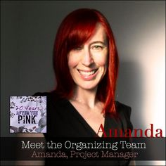"""Meet the organizing team! Amanda is the Project Manager of 20 Years After the Pink.  Which artistic medium inspires you the most?  """"Music inspires colours, shapes, textures and concepts for me - I'm an associator synesthete, which means that when I hear music I feel, or get an impression of, that sound in my head. I don't actually see colours with my eyes like folks with projector type synesthesia, it's more conceptual in my brain."""""""