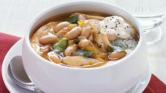 Enjoy this Southwestern chicken soup featuring Progresso® broth and cannellini beans – dinner ready in 20 minutes.
