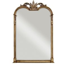 Global Direct 43 in. x 28 in. Champagne Silver Composite Arched Top Framed Mirror-14018 P - The Home Depot