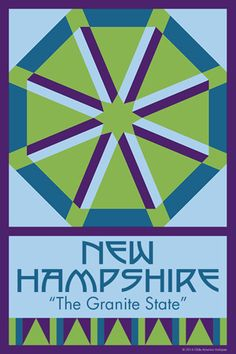 NEW HAMPSHIRE quilt block. Ready to sew. Single 4x6 block $4.95.