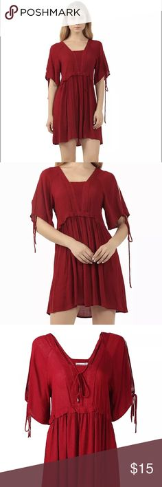 Lovely red dress Really cute versatile little dress that is super flattering , kinda boho or vintage style.  Deep romantic red. Dresses Mini