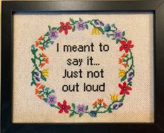 Subversive Cross Stitch Pattern/Floral Border Cross Stitch Pattern/Wreath Border Cross Stitch Pattern/Funny Cross Stitch Pattern/XStitch/PDF by oneofakindbabydesign on Etsy Funny Cross Stitch Patterns, Cross Stitch Borders, Modern Cross Stitch, Cross Stitch Kits, Cross Stitch Designs, Cross Stitching, Cross Stitch Embroidery, Embroidery Patterns, Hand Embroidery