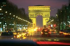 arc de triomphe...I've seen it in the day, now I want to see it at night.