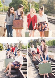 @Alyssa Day we should do something like this with  the suitcases. End of the year thing. My dad could take them! Showing us going off to college. :)