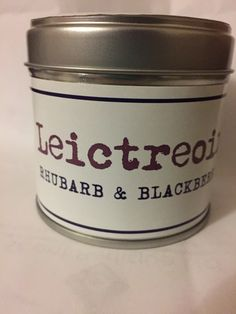 Rhubarb and Blackberry candle!   Zingy fresh rhubarb with the sweet blackberry, a top selling hot favourite. Smells delicious! (Don't eat it though!)