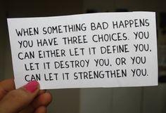 how to get through