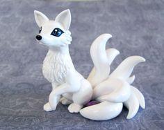 White+8+Tailed+Kitsune+by+DragonsAndBeasties.deviantart.com+on+@deviantART