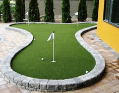 Practice your #putting skills with backyard #SYNLawn putting green. In #Vancouver call Chris for your quote 778-246-2209.