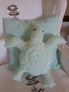 Sea Turtle. Turtle Pillow. Nautical Decor. Under by searchnrescue2, $60.00; etsy.com (want this!)