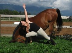 Yoga for horse and rider. I dont think Rory would do this with me at the same time.
