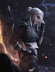 The Witcher, Ciri Witcher, Witcher Art, Fantasy Art Women, Dark Fantasy Art, Fantasy Girl, Fantasy Artwork, Fantasy Character Design, Character Inspiration