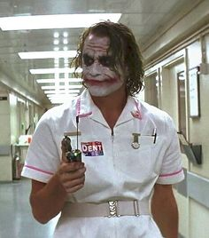 Brand New Batman Joker Dark Knight Style Nurse Dress Uniform Outfit Costume - Art Du Joker, Le Joker Batman, Harley Quinn Et Le Joker, Der Joker, Batman Art, Joker Dark Knight, The Dark Knight Trilogy, Heath Ledger Joker, Joaquin Phoenix
