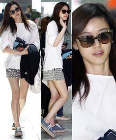 "Jeon Ji Hyun: ""Impresionantes pantorrillas"""