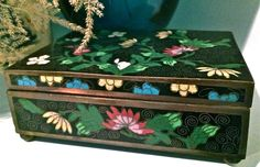 Antique Chinese Cloisonné Brass Metal Trinket Box Chinese Decorative Arts by YatsDomino on Etsy