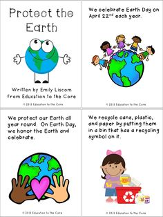 Earth Day Activity Booklet  Preschool Spring Themed Ideas