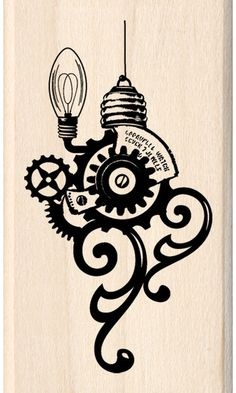 Steampunk Stamp that would make a very cool painting.