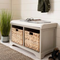 Shop for Entryway - Overstock.com Grey Storage Bench, Cubby Storage, Upholstered Storage Bench, Storage Benches, Shoe Storage, Storage Furniture With Baskets, Mudroom Benches, Wooden Benches, Tufted Bench
