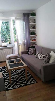 Mały salon w bloku Sweet Home, Loft, Couch, Living Room, Storage, Interior, Furniture, Bathroom, Home Decor