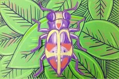 The Lost Sock : Iridescent Beetle Bug