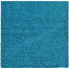 Unique Loom Turquoise Area Rug, Blue