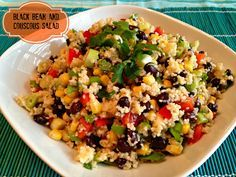 Black Bean & Couscous Salad - Make sure you double the marinade!  Great summer salad!  #AllrecipesAllstars #BlackBeanSalad #Couscous @allrecipes