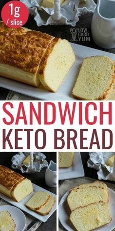 Keto Foods, Healthy Low Carb Recipes, Low Carb Desserts, Low Carb Keto, Healthy Weight, Easy Keto Bread Recipe, Best Keto Bread, Lowest Carb Bread Recipe, Bread Recipes
