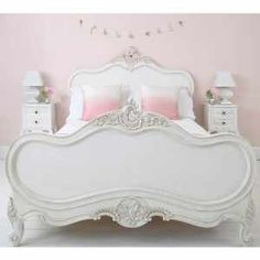 Provencal Louis XV White Luxury French Bed - French Bedrooms