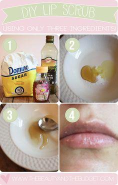 Easy DIY Lip Scrub