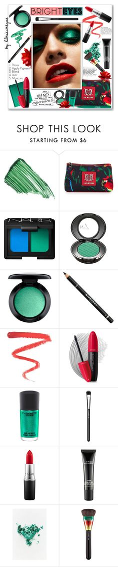 """""""#336 - Turn Around, Bright Eyes"""" by lilmissmegan ❤ liked on Polyvore featuring beauty, By Terry, Love Moschino, Urban Decay, NARS Cosmetics, MAC Cosmetics, Givenchy, Ellis Faas, Revlon and Stila"""