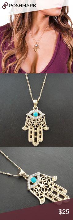 Hamsa Evil Eye Necklace Turkish hamsa evil eye necklace. Keeps jealousy and hate away! Free Vibrationz Jewelry Necklaces