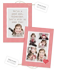 Decided to make a very personal Valentine's card for my daughter to hand out this year. I photographed her drinking some hot chocolate and included a packet with the cards.