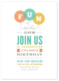 party invitations - Endless Fun by Momo