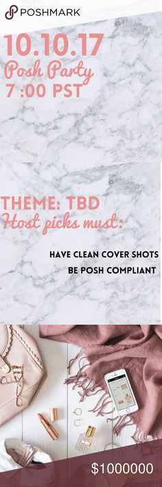 Please join me as I host my second posh party! I am excited to announce I will be hosting my second Posh Party on October, 10th at 7 pm PST. The theme has yet to be announced. I will be looking for host picks from posh compliant closets who have clean cover shots! I look forward to seeing you there. 💋 Dresses