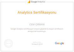 Google Analytics sınavını geçerek Google Analytics Sertifikası'nı almaya hak kazandım :) https://www.google.com/partners/#i_profile;idtf=108121643870804140202