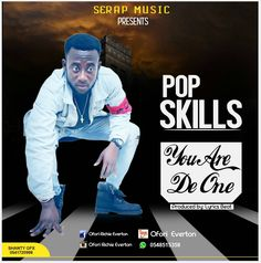 """S3RAP MUSIC RECORDS presents to you POP SKILLS from the Camp of Sefwi Movement his first and foremost Single entitled """"YOU ARE THE ONE"""".  POP SKILLS is currently working on his next love track.   #Lyrics Beat #Pop Skills #Pop Skills - You Are The One #Pop Skills - You Are The One (Mixed by Lyrics Beat) #You Are The One"""