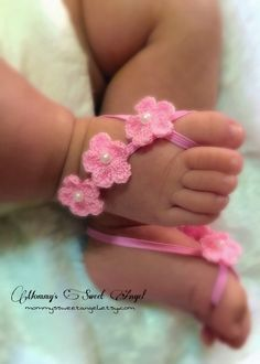 Crocheted flower baby barefoot sandals. Available in 21 colors!!! Baby barefoot sandals. Flowers barefoot sandals. by MommysSweetAngel on Etsy https://www.etsy.com/listing/241654245/crocheted-flower-baby-barefoot-sandals