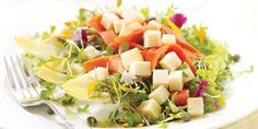Salad with Smoked Salmon and Edam Recipes | Food Network Canada