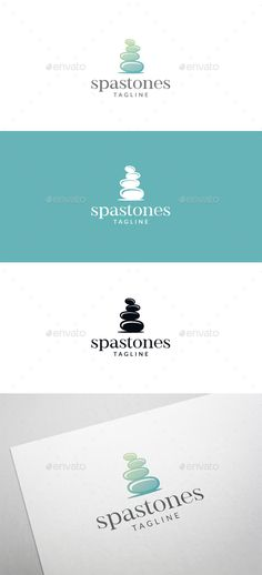 Spa Stones Logo Template Vector EPS, AI Illustrator. Download here: https://graphicriver.net/item/spa-stones-logo/17552670?ref=ksioks