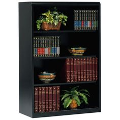 Tennsco 36 by 15 by Executive Steel Bookcase with Glass Doors with 4 Shelves, Black Bookcase With Glass Doors, Bookcase Door, Cube Bookcase, Etagere Bookcase, Sliding Glass Door, Glass Shelves, Cube Storage, Storage Spaces, Cube Unit