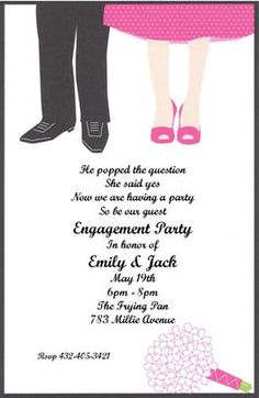 Cute Engagement Party Invitations