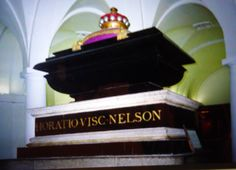 Henry's sarcophagus used for Horatio Nelson in St Paul's Cathedral crypt
