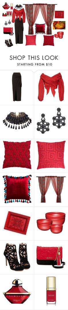 """""""Moroccan Restaurant Montreal January 2017❄"""" by jbeb ❤ liked on Polyvore featuring Johanna Ortiz, Kate Spade, Home Decorators Collection, Blissliving Home, Emile Henry, Betsey Johnson, Guerlain, Dolce&Gabbana and Clarins"""