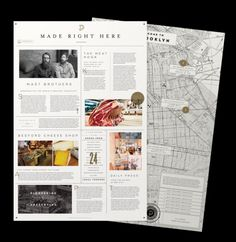 Love the layout. Daily Press Identity by Matt Delbridge, via Behance Web Design, Book Design, Layout Design, Poster Layout, Print Layout, Book Layout, Menu Layout, Typography Layout, Lettering