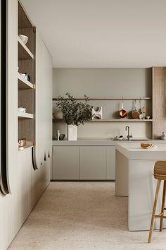 Home Decor Kitchen, New Kitchen, Home Kitchens, Natural Kitchen, Family Kitchen, Grey Kitchens, Interior Desing, Interior Design Kitchen, Neutral Kitchen Interior