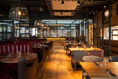Middletons Steakhouse and Grill. Restaurant interior design by designLSM. Photography (c) James French Photography